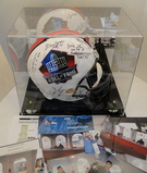 Full Size HOF Helmet, Signed By 11 Famers Ticket, Line Up Sheet Session 1, Photos, COA, Display Case