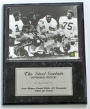 The Steel Curtain, Pittsburgh Steelers Autographed 8 x 10 Photo, Framed