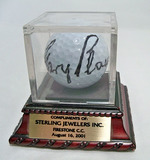 Gary Player Autographed Golf Ball, Firestone Country Club 8/16/2001