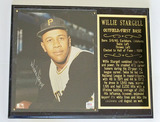 Willie Stargell Autographed 8 x 10 Photograph Mounted On Plaque, PSA/DNA COA