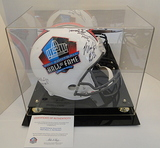 Full Size HOF Helmet, Signed By 4: McDaniel, Smith, Wilson Jr., Woodson, COA, Dis. Case