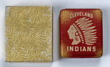 Early Primary Logo Cleveland Indians MLB Metal Cigarette Case in Original Box
