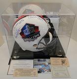 Full Size HOF Helmet, Signed By 4: Joiner, Mackey, Schmidt, Eller, Tickets, COA's, Photo, Disp. Case