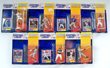 Lot of 7 Kenner Starting Lineup 1994 Edition Baseball Action Figures W/ Trading Card, Sealed in Pkg