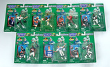 Lot of 7 Kenner Starting Lineup 1998 Edition Extended Series Football Action Figures W/ Trade Card
