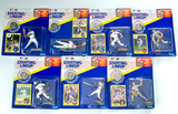 Lot of 7 Kenner Starting Lineup 1991 Edition Baseball Action Figures W/ Trade Card & Collector Coin