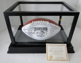 """HOF Football Signed By 10 Hall of Famers """"Best of Yesterday & Today"""", COA, Display Case"""