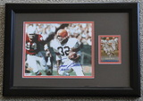 """Jim Brown Signed 8"""" X 10"""" With Card, Framed, Holograms and COA"""