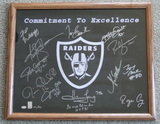 Raiders Legends Signed By 13 Greats, Framed, Holograms and COA