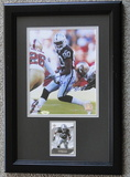 """Jerry Rice Signed 8"""" X 10"""" With Card, Framed, Holograms and COA"""