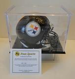 Hines Ward Signed Steelers Mini Helmet With Display Case, COA
