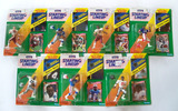 Lot of 7 Kenner Starting Lineup 1992 Edition Football Action Figs W/ Special Series Poster & Card