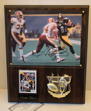 """Hines Ward signed 8"""" X 10"""" On Plaque With Card and COA"""