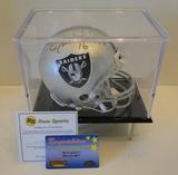 Jim Plunkett Signed Raiders Mini Helmet With Display Case, COA's, Hologram