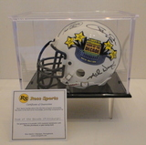 Pittsburgh Team of The Decade Signed By 10 Legends Mini Helmet With COA and Display Case
