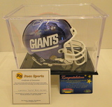 Lawrence Taylor Signed Chrome Ltd. Edition Mini Helmet with Display Case, Hologram and COA's
