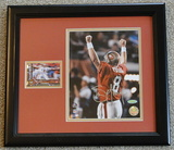 """Steve Young Signed 8"""" X 10"""" With Card, Holos, COA's, Professionally Framed"""
