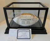 Rocky Bleier Signed Full Size Steelers Football With COA, Display Case & Receipt