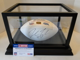 John Lynch Signed Patriots Full Size Football With PSA Sticker, COA and Display Case