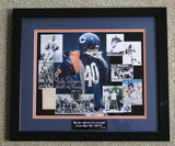 """Gale Sayers Signed 11"""" X 14"""" Collage, Framed With HOF/Gale Sayers COA"""