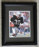 """Marcus Allen Signed 8"""" X 10"""", Framed With Holograms, COA and Snapshot"""