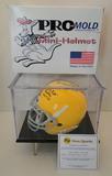Pitts. Mini Helmet Signed By Hall of Famers; J. H. Johnson, B. Dudley, E. Stautner, COA, Disp. Case