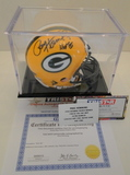 Paul Hornung Signed Packers Mini Helmet With Hologram, COA and Display Case