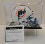 Dan Marino Signed Dolphins Mini Helmet With COA and Display Case
