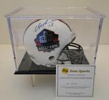 Dan Marino Signed Hall Of Fame Mini Helmet With COA and Display Case