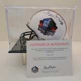 Howie Long Signed Hall Of Fame Mini Helmet With COA and Display Case