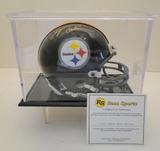 Lynn Swann Signed Steelers Mini Helmet With COA and Display Case