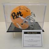 Tony Dorsett Heisman 76 Signed Pitt. University Mini Helmet With Hologram, COA and Display Case