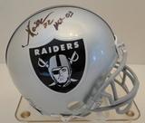Marcus Allen Signed Raiders Mini Helmet With Hologram, COA, Snapshot and Display Case