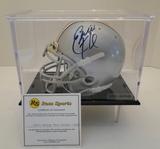 Eddie George Signed OSU Mini Helmet With COA and Display Case