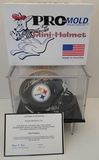 Rod Woodson Signed Steelers Mini Helmet With COA and Display Case