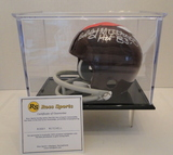 Bobby Mitchell Signed Chiefs Throwback Mini Helmet With COA and Display Case