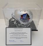 C. Eller, M. Renfro, D. Lavelli & R. Mix Signed Silver Hall of Fame Mini Helmet W/ COA & Disp. Case