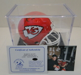 Marcus Allen Signed Kansas City Chiefs Mini Helmet With COA, Hologram and Display Case
