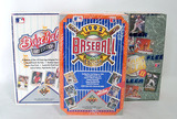 Three Boxes of Baseball Wax Packs in Orig. Shrink Sealed Pkgs., Upper Deck, Fleer