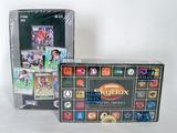 Two Boxes of Football Wax Packs in Orig. Shrink Sealed Pkgs, Fleer Ultra, Sky Box