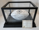 """HOF Football Signed By 10 Hall of Famers """"All Stars"""", COA, Display Case"""