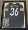 Framed Jerome Bettis #36 Pittsburgh Steelers Autographed Black Jersey W/ Signed 8 x 10 Photo, COA