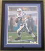 Peyton Manning #18 Colts Autographed Super Bowl XLI Running in the Rain Photograph, 16 x 20, COA