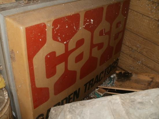 Case Garden Tractor Sign