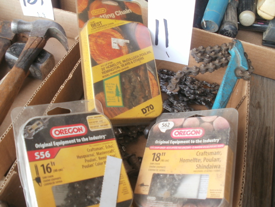 box of chain saw blades