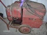 Gas powered welder generator