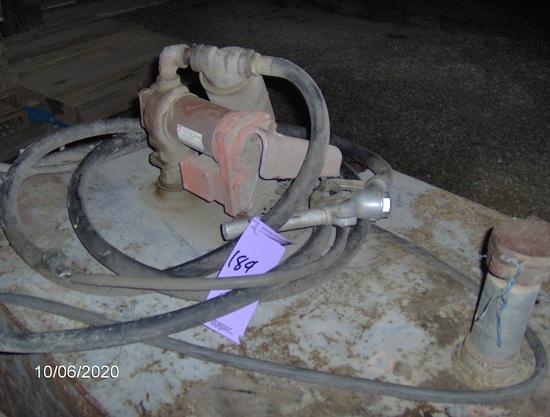 150 gallon, diesel transfer tank, 12 volt pump
