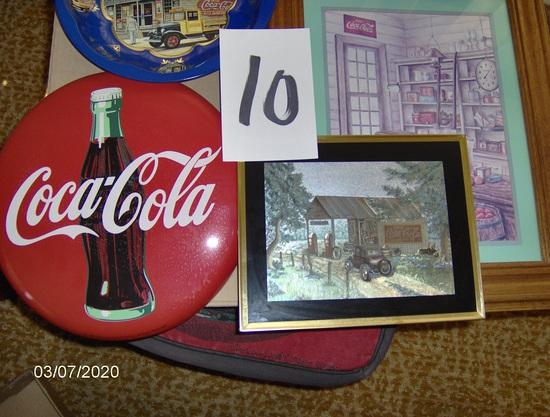 Framed Coke items