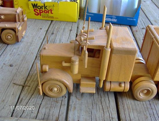 Oak semi & grain trailer