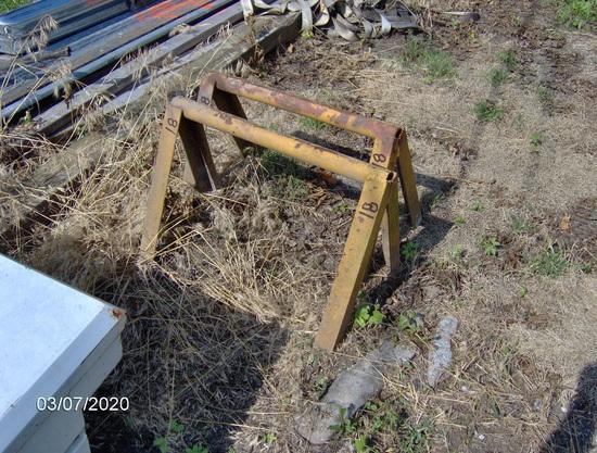 (2) Steel Saw Horses